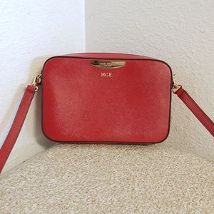 Henri Bendel Red Crossbody Bag